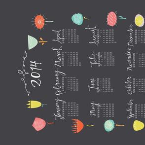 Tea Towel Calendar 2014 Flower Fun