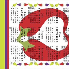 Tea Towel Calendar 2014_Red_Hot_Pepper_Love
