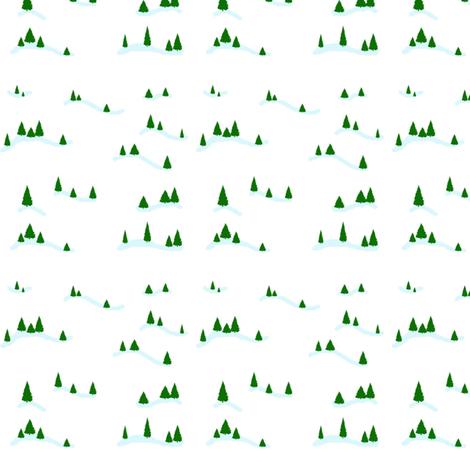 Snowy Pines fabric by pumpkintreelane on Spoonflower - custom fabric