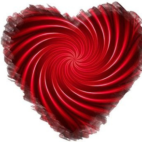 Red Twirly Heart