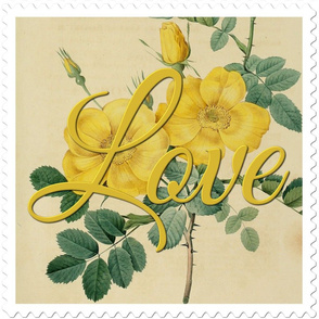 Love Stamp Flower by Joseph Redoute