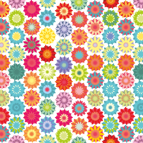 Hippie flowers, colorful ornament fabric by dariara on Spoonflower - custom fabric