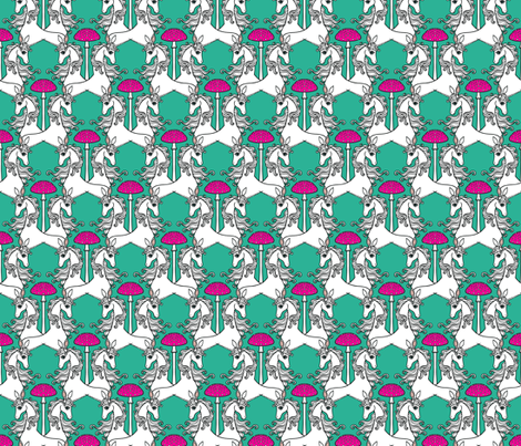 Unicorns & Toadstools 6 fabric by lord-orlando on Spoonflower - custom fabric