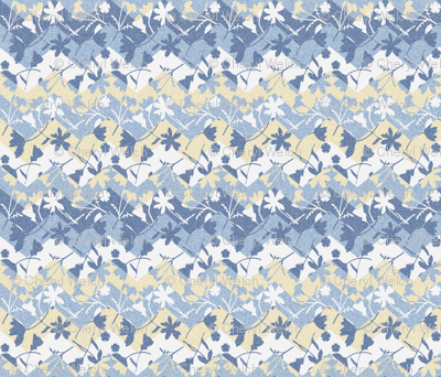 Faded Chevron blue garden