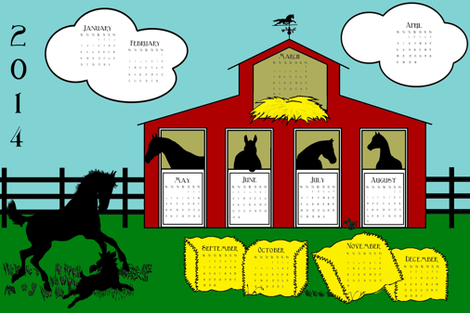 2014 at the Farm fabric by ragan on Spoonflower - custom fabric