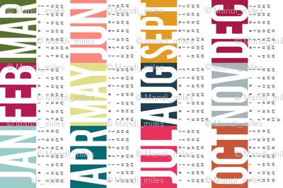 2014 Year at a Glance Calendar
