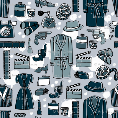 Film Noir // silent movies film andrea lauren fabric