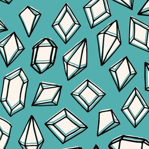 crystals // crystal gems gemstone fabric geodes geodesic fabric andrea lauren design