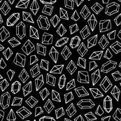 Crystal Gems - Black/White