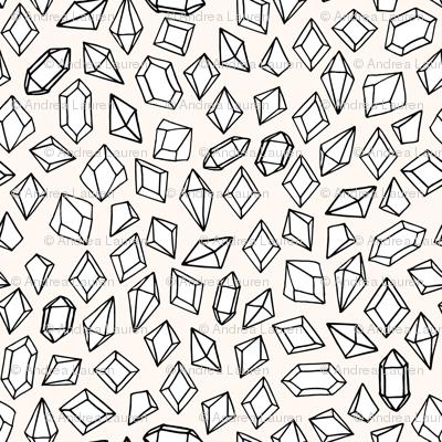 crystals // gems gemstones fabric geodes design andrea lauren fabric