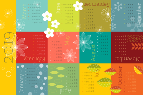 Today's the Day 2019 fabric by snowflower on Spoonflower - custom fabric