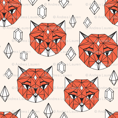Crystal Cat - Champagne/Coral/White