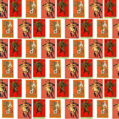 Krampus is Coming!  Merry Christmas fabric by wanganegresse on Spoonflower - custom fabric