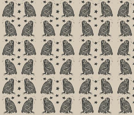 Studio Owls fabric by bad_penny on Spoonflower - custom fabric
