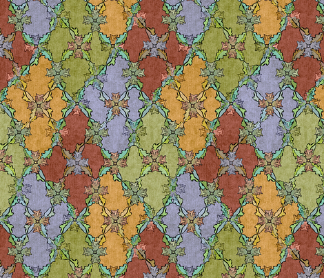 Autumn Leaves Argyle - Starting To Turn fabric by glimmericks on Spoonflower - custom fabric