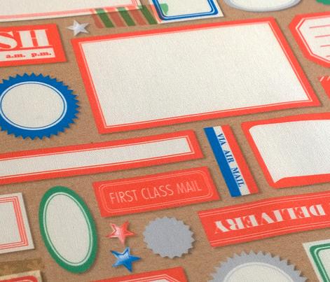 Special Delivery || ephemera Dennison labels seals vintage mail stars wash tape Kraft paper diy