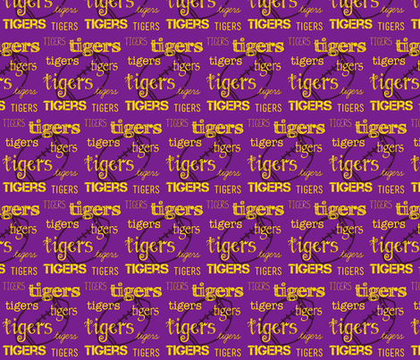 Tigers football fabric by shop70454 on Spoonflower - custom fabric
