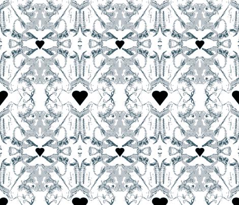 Le Coeur Noir fabric by woodsworks on Spoonflower - custom fabric