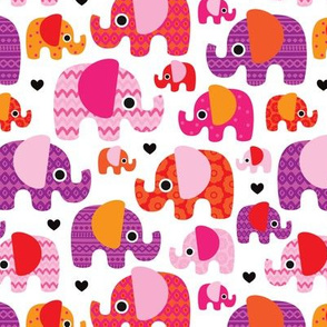 Pink hot aztec elephant parade