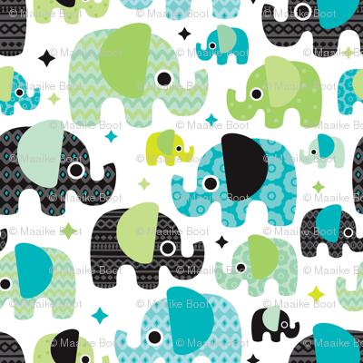 Blue boy aztec elephant parade