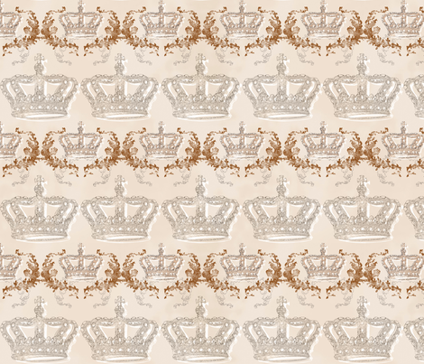 Regal Crowns fabric by accoladedesigns on Spoonflower - custom fabric