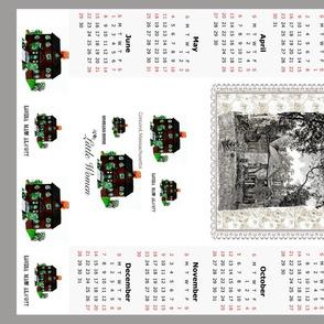 2014 tea towel calendar, Little Women