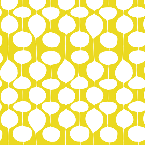 Holiday Bobbles - Abstract Geometric Festive & Frost Citron Yellow fabric by heatherdutton on Spoonflower - custom fabric