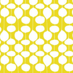Holiday Bobbles - Abstract Geometric Festive & Frost Citron Yellow