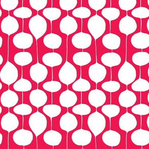 Holiday Bobbles - Abstract Geometric Festive Red