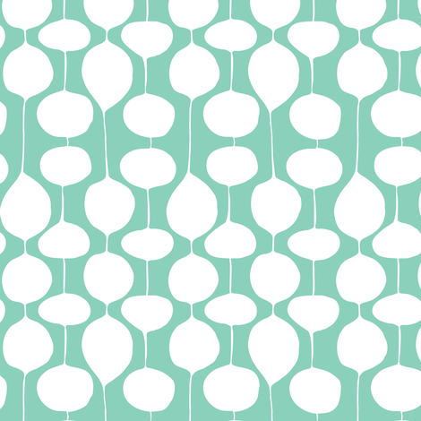 Holiday Bobbles - Abstract Geometric Festive Teal fabric by heatherdutton on Spoonflower - custom fabric