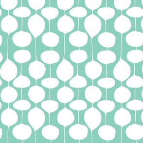 Holiday Bobbles - Abstract Geometric Festive Teal