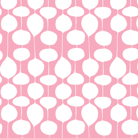 Holiday Bobbles - Abstract Geometric Festive Pink fabric by heatherdutton on Spoonflower - custom fabric