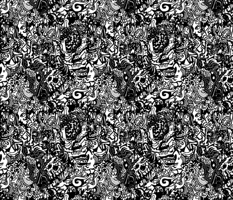Black & White Doodle Pattern fabric by antonybriggs on Spoonflower - custom fabric