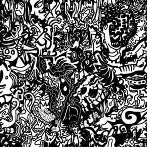 Black & White Doodle Pattern
