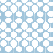 Holiday Bobbles - Abstract Geometric Frost Blue