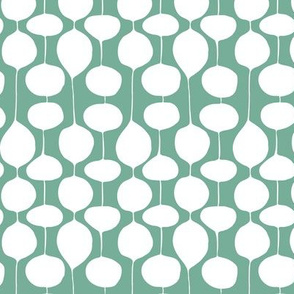 Holiday Bobbles - Abstract Geometric Frost Evergreen