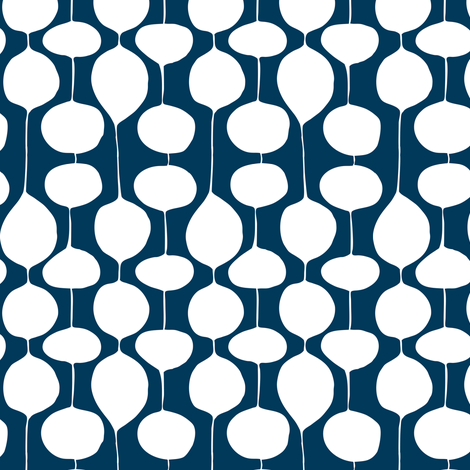 Holiday Bobbles - Abstract Geometric Remix Navy Blue fabric by heatherdutton on Spoonflower - custom fabric