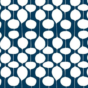 Holiday Bobbles - Abstract Geometric Remix Navy Blue