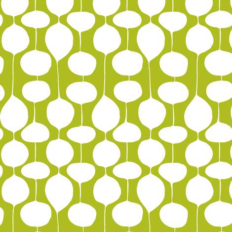Holiday Bobbles - Abstract Geometric Remix Green fabric by heatherdutton on Spoonflower - custom fabric