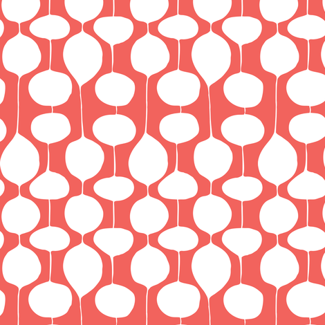Holiday Bobbles - Abstract Geometric Remix Red fabric by heatherdutton on Spoonflower - custom fabric