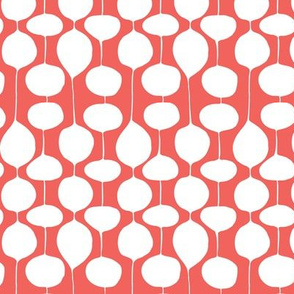 Holiday Bobbles - Abstract Geometric Remix Red
