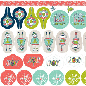 Christmas Ornaments / Tags Cut & Sew Project