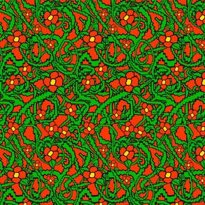 Little Red Flower Bush