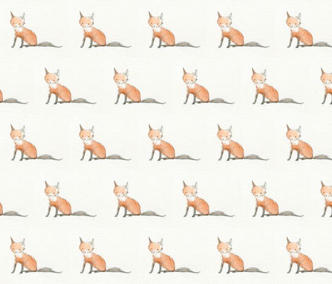 baby fox  fabric by misscloverbrown on Spoonflower - custom fabric