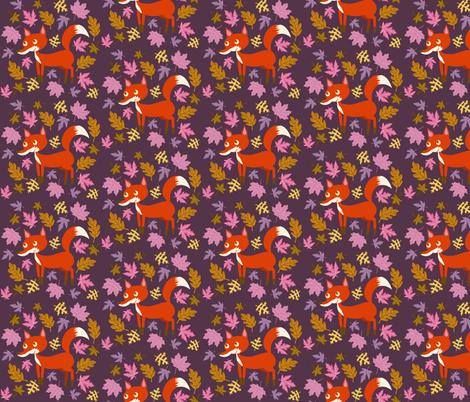 Fox Leaves fabric by heidikenney on Spoonflower - custom fabric