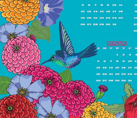 Melody's Garden 2014 Tea Towel Calendar