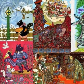 Russian fairy tale quilt