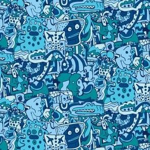 Blue doodle