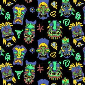 Dark Tiki Masks