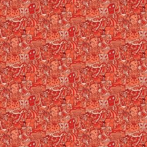 Small Red Doodles
